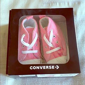 BNWT Pink Baby Converse